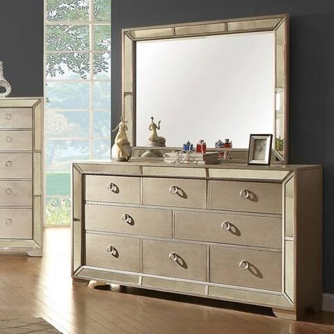 Furniture of America Gevi Glam Champagne 8-drawer Dresser