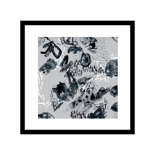 ABSTRACT GREY  Black Framed Giclee Print By Becca Garrison