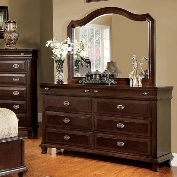 8-Drawer Dresser,Brown Cherry