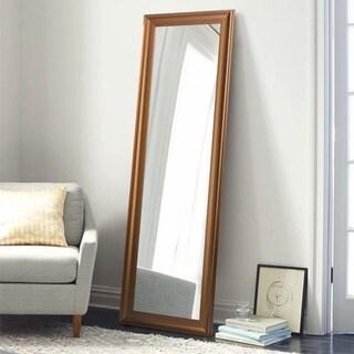 Retro Espresso Rectangular Full Length Floor Mirror Hanging or Leaning - 62.6x19.7