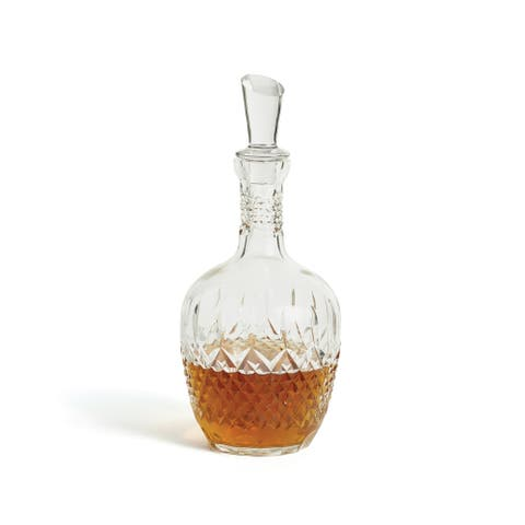 Hip Vintage Melissa Hand Cut and Polished Glass Decanter