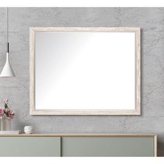 White Aspen Wall Mirror - Cream/Silver