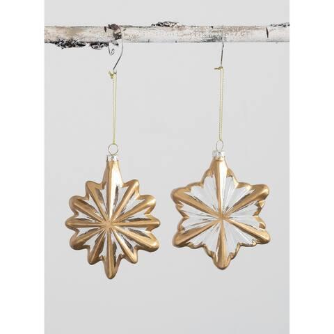 """Stars Ornament - Set of 2 - 4L x1.75""""W x5""""H; 4""""L x1.5""""W x4.75""""H"""""""