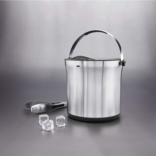 OXO Good Grips Stainless Steel Ice Bucket and Tongs Set, Silver