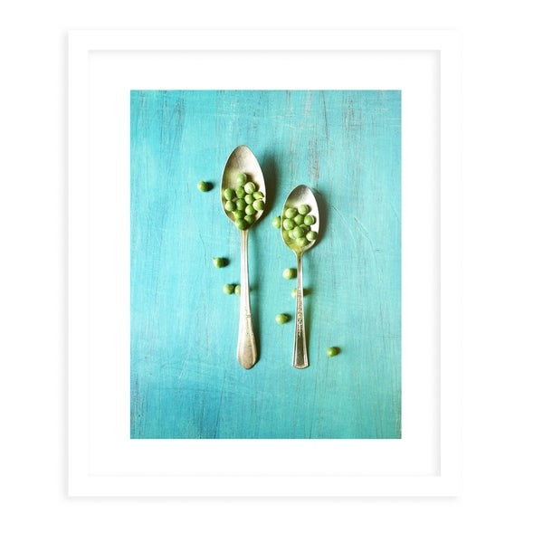 PEASPOON White Framed Giclee Print By Olivia St. Claire