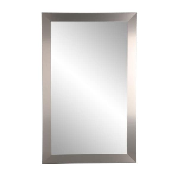 Industrial Home Wall Mirror - Brushed Nickel