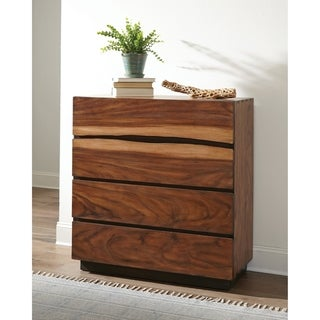 Carbon Loft Clell Smokey Walnut and Coffee Bean 4-drawer Chest