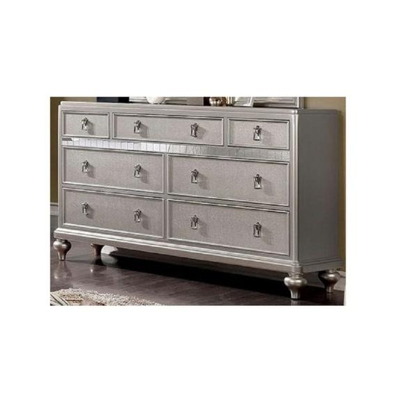 6-Drawer Dresser, Silver