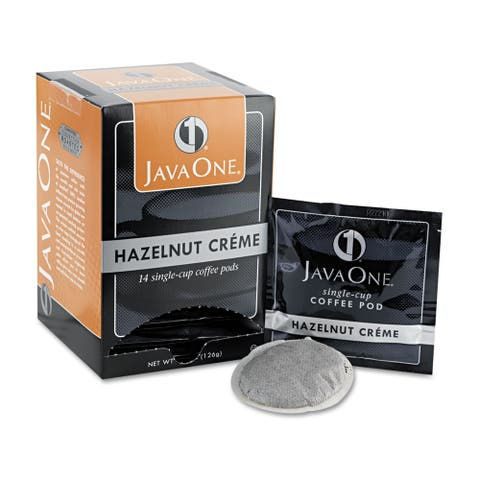 Coffee Pods, Hazelnut Creme, Single Cup, 14/Box