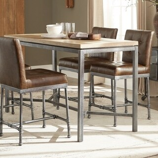 Link to Carbon Loft Biddie Weathered Grey and Black Rectangle Counter Height Table Similar Items in Dining Room & Bar Furniture