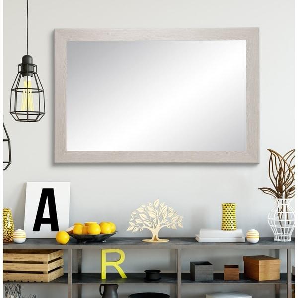 Natural Gray Grain Wall Mirror
