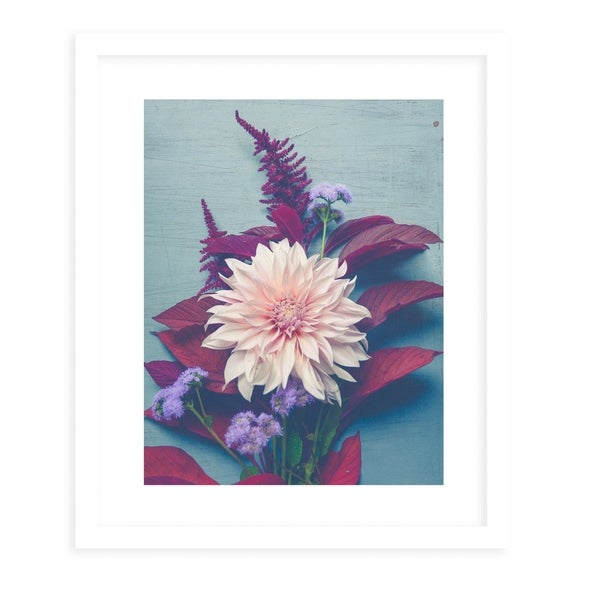 AUTUMN FLORAL White Framed Giclee Print By Olivia St. Claire