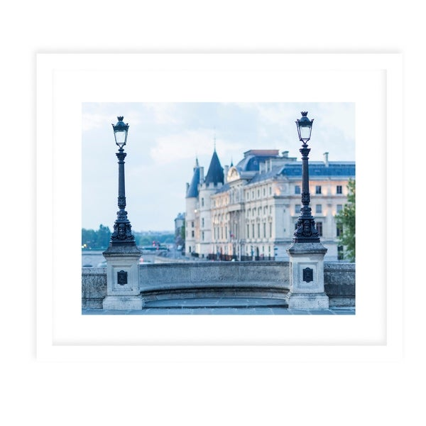 FRENCH LIGHT POSTS White Framed Giclee Print By David Phillips