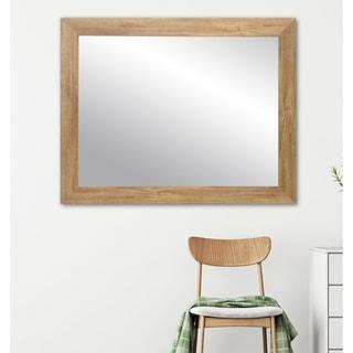 Blonde Barnwood Wall Mirror - Brown