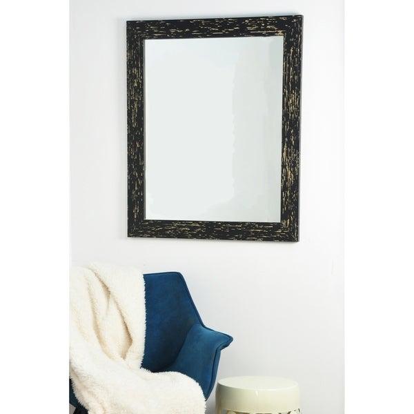 Swiss Chalet Wall Mirror - Black