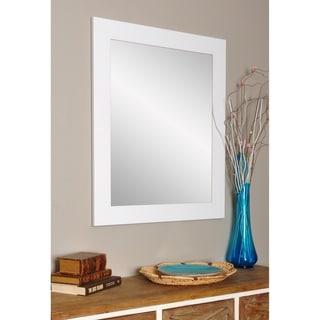 Matte White Wall Mirror