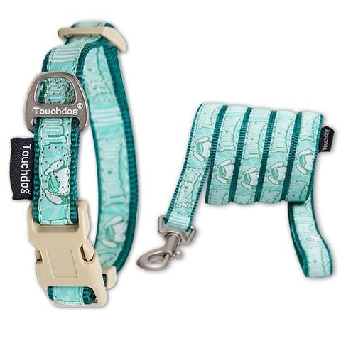 Touchdog 'Funny Bun' Tough Stitched Embroidered Collar and Leash