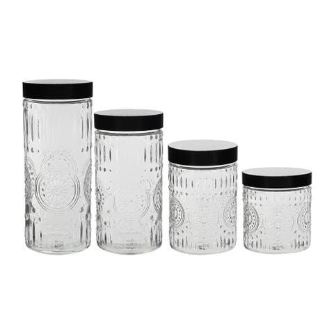 Stylesetter Medallion Round 4-Piece Canister Set