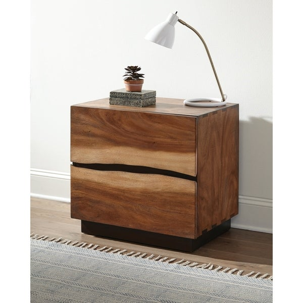 Carbon Loft Clell Smokey Walnut and Coffee Bean 2-drawer Nightstand