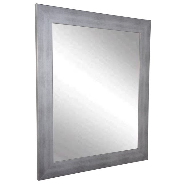 Cool Muted Contempo Wall Mirror - Brushed Silver