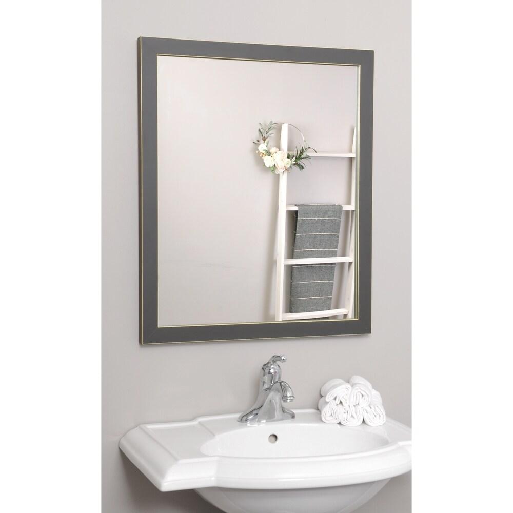 Minimal Designs Wall Mirrors - Charcoal
