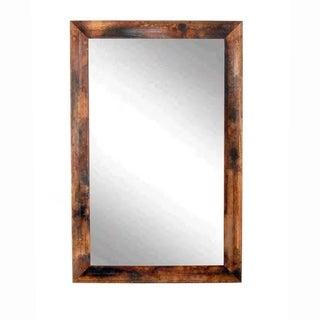 Marbled Mahogany Wall Mirror