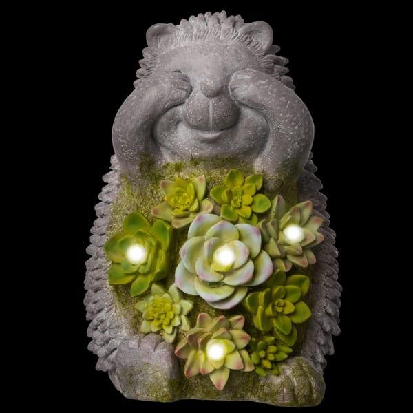 New Design Solar Light Hedgehog Garden Ornament Figurine 31cm