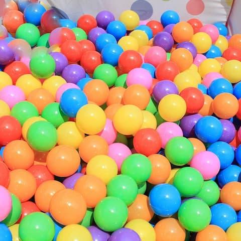 100pcs 5.5cm Fun Soft Plastic Ocean Ball Swim Pit Toys