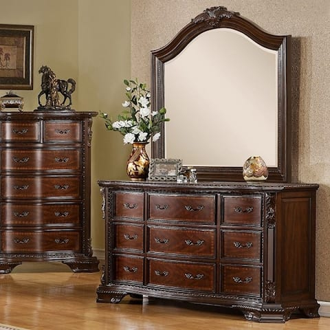 Furniture of America Vace Traditional Brown Cherry 9-drawer Dresser