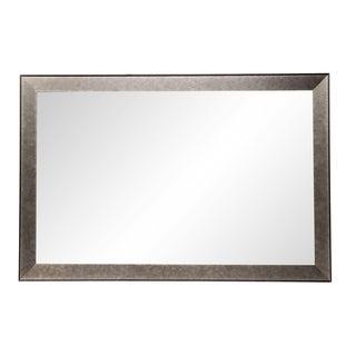 Worn Gunmetal Wall Mirror - Metal