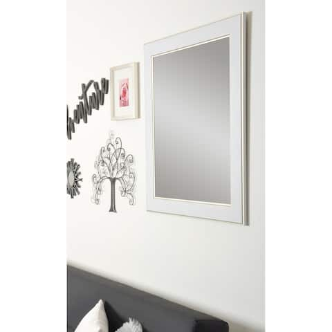 Gold Trimmed Legacy Wall Mirror - White/Gold