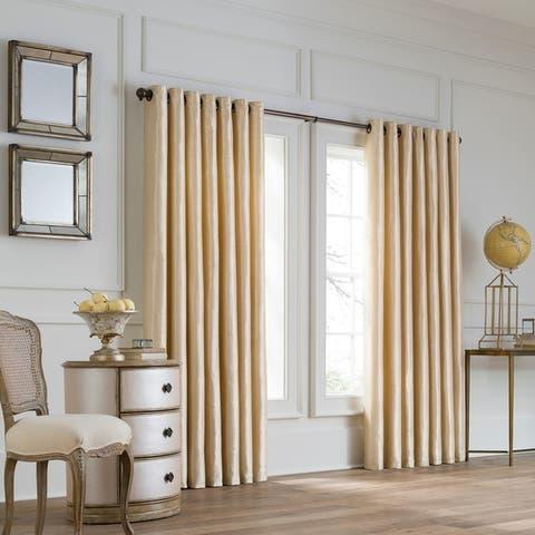 Lustre Solid Double-Width Grommet Window Panel