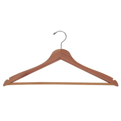 Household Essentials Cedar Garment Thin Hanger, Pack of 12
