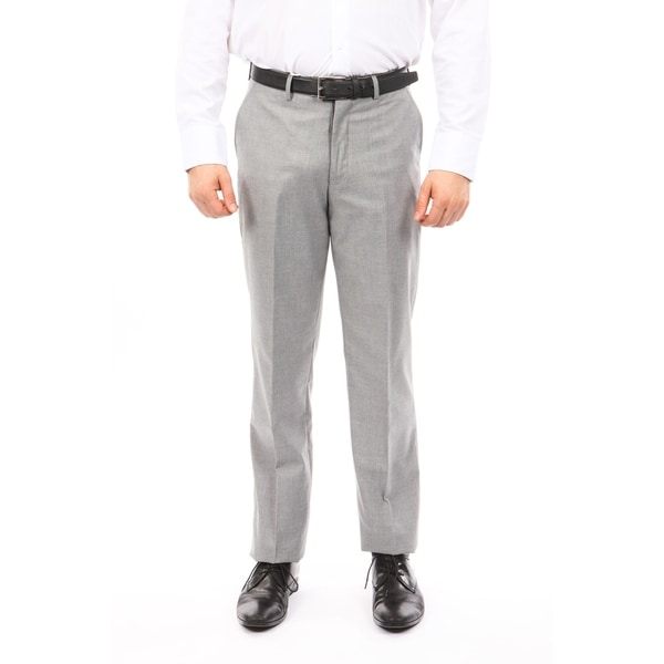 Men Solid Dress Pant Flat Front Slim Fit. Opens flyout.