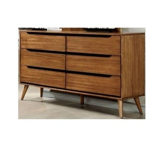 6-Drawer Dresser with Round Tapered Legs