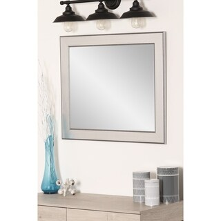 Mod Euro Silver Wall Mirror - Brushed Silver