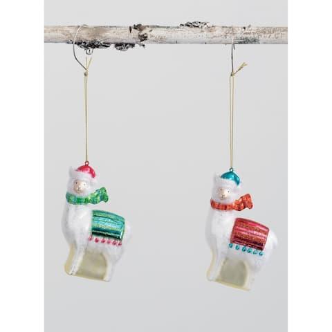 """Llamas Ornament - Set of 2 - 3L x1.5""""W x4.5""""H"""""""
