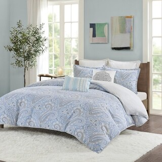 Echo Design Bukhara Blue Reversible Cotton Duvet Cover Set