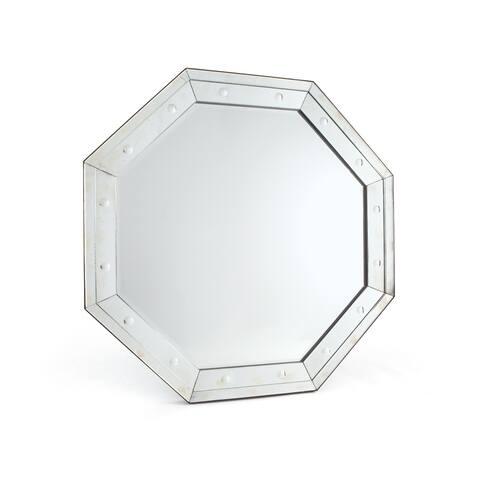 Hip Vintage Octa Antique Glass Wall Mirror