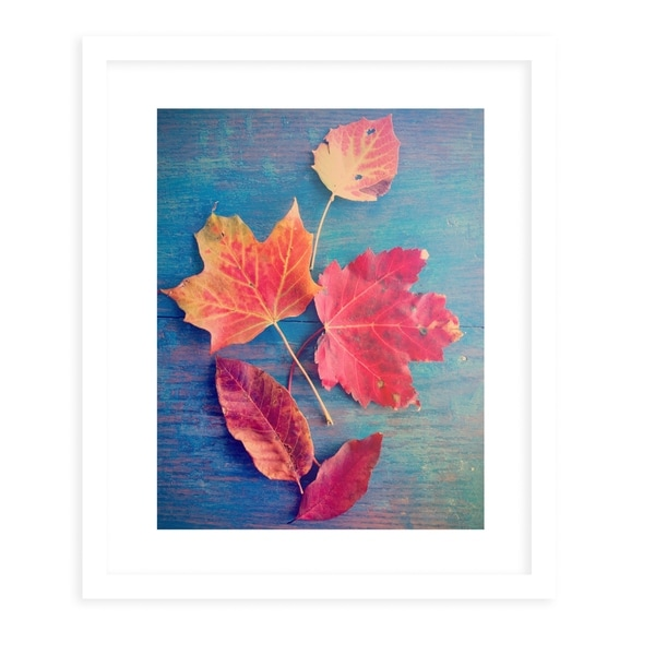 AUTUMN LEAF STILL LIFE White Framed Giclee Print By Olivia St. Claire