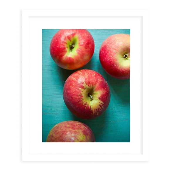 APPLES White Framed Giclee Print By Olivia St. Claire