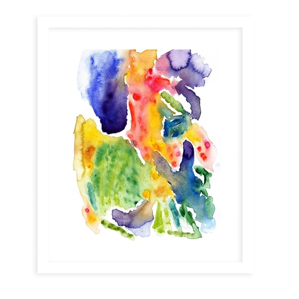 HAPPINESS White Framed Giclee Print By Olivia St. Claire
