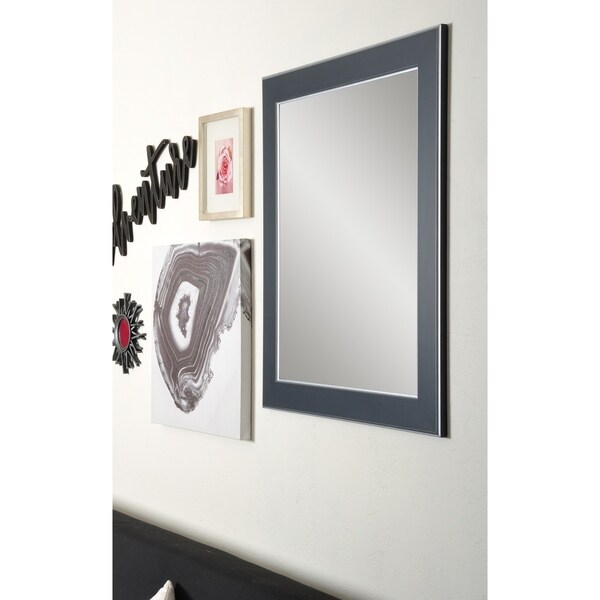 Design Contempo Wall Mirror - Black With Silver Lining
