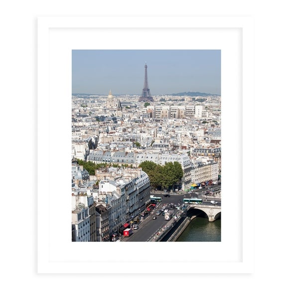 VIEW OF THE EIFFEL White Framed Giclee Print By David Phillips