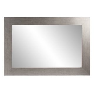 Stainless Grain Wall Mirror - Flat Brushed Silver