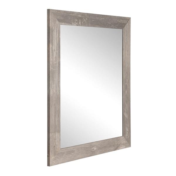 Urban Frontier Barnwood Wall Mirror - Brown