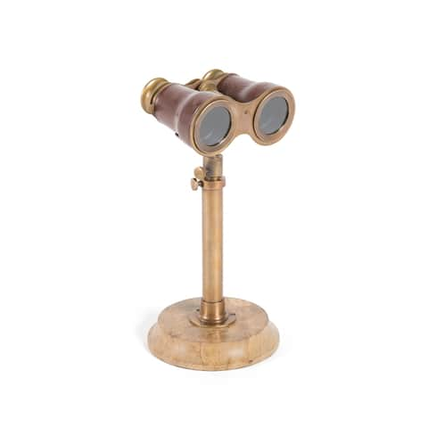 Hip Vintage Antiqued Brass Binoculars with Stand