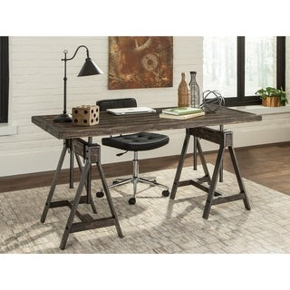 Carbon Loft Burley Burnished Cognac Height-adjustable Writing Desk