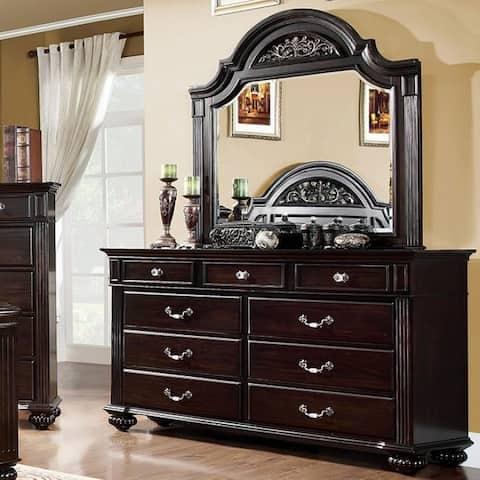 Furniture of America Vame Traditional Dark Walnut 9-drawer Dresser