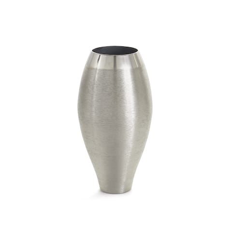 Hip Vintage Hilton Brushed Nickel Vase